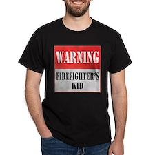 Firefighter Warning-Kid T-Shirt
