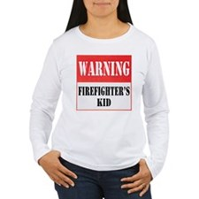 Firefighter Warning-Kid T-Shirt
