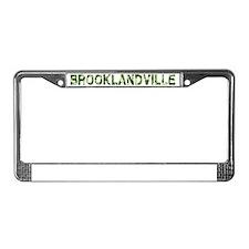 Brooklandville, Vintage Camo, License Plate Frame