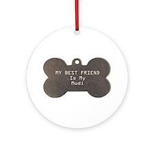 Mudi Friend Ornament (Round)