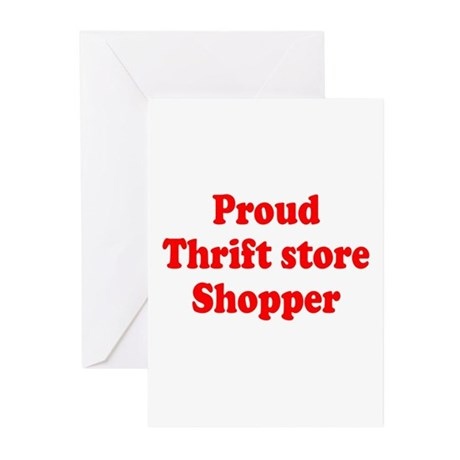 Proud Thrift Store Shopper Greeting Cards (Package