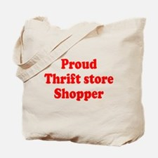 Proud Thrift Store Shopper Tote Bag
