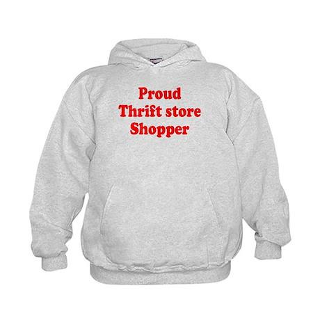 Proud Thrift Store Shopper Kids Hoodie
