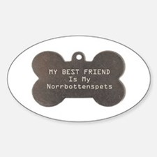 Norrbottenspets Friend Oval Decal