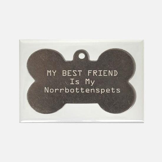 Norrbottenspets Friend Rectangle Magnet (100 pack)