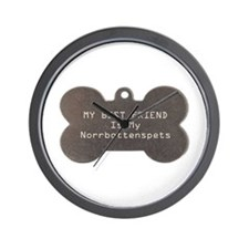 Norrbottenspets Friend Wall Clock