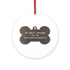 Norrbottenspets Friend Ornament (Round)