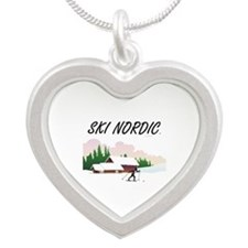 TOP Ski Nordic Silver Heart Necklace