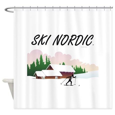 Ski Nordic Shower Curtain By Limitlesspos