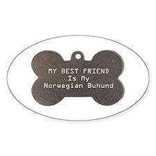 Buhund Friend Oval Decal