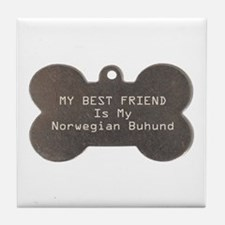 Buhund Friend Tile Coaster