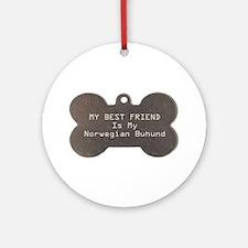 Buhund Friend Ornament (Round)