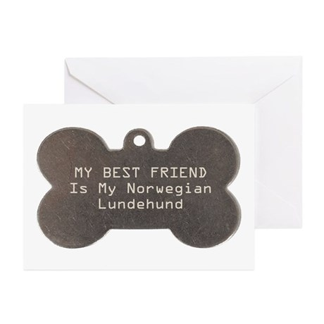 Lundehund Friend Greeting Cards (Pk of 10)