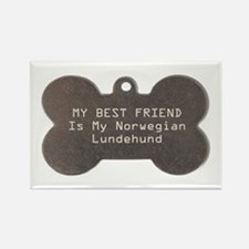 Lundehund Friend Rectangle Magnet (100 pack)