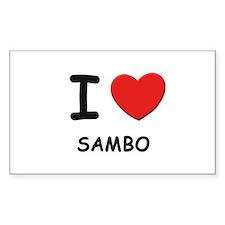 I love sambo Rectangle Decal
