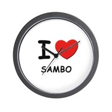 I love sambo  Wall Clock