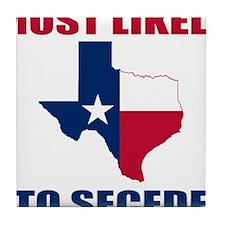 Texas Secession Tile Coaster