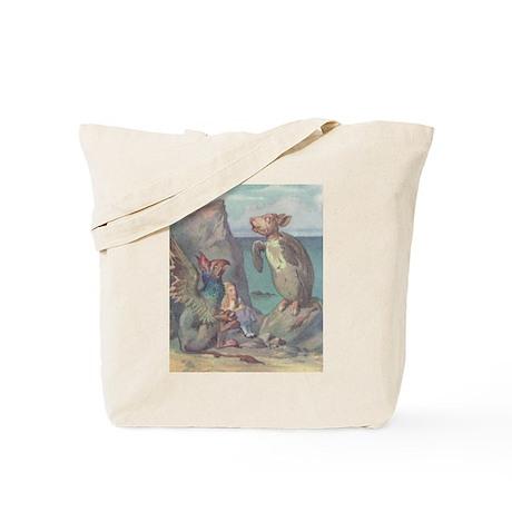 Alice meets Gryphon & Mock Tu Tote Bag