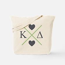 Kappa Delta Letters Cross Tote Bag