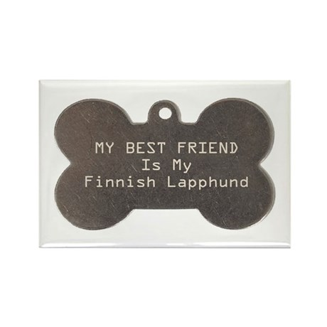 Lapphund Friend Rectangle Magnet (10 pack)