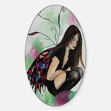 Oval Sticker Dark Faerie