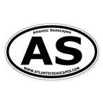 Atlantic Seascapes Thick Line Oval Sticker