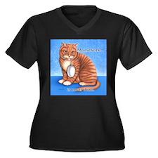 Mousework Women's Plus Size V-Neck Dark T-Shirt