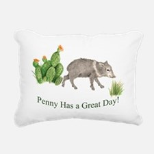 Penny Has a Great Day Rectangular Canvas Pillow