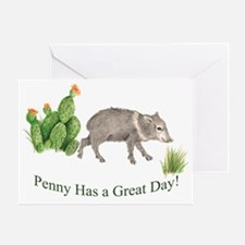 Penny Has a Great Day Greeting Card