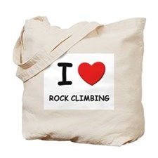 I love rock climbing Tote Bag