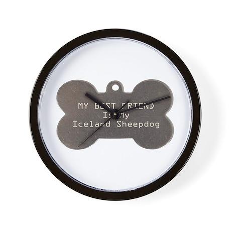 Sheepdog Friend Wall Clock