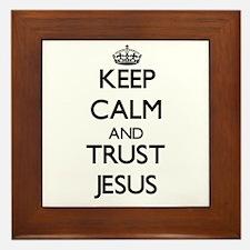 Keep Calm and TRUST Jesus Framed Tile