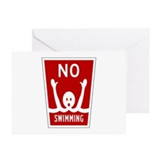No Swimming, Miami (FL) Greeting Cards (Package of