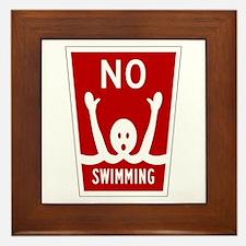 No Swimming, Miami (FL) Framed Tile