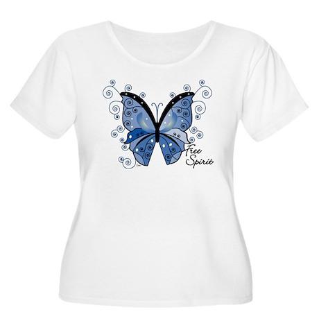 Free Spirit Women's Plus Size Scoop Neck T-Shirt