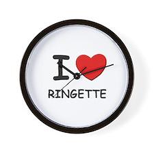 I love ringette  Wall Clock