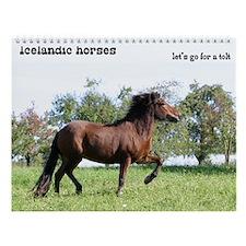 Icelandic horse Wall Calendar