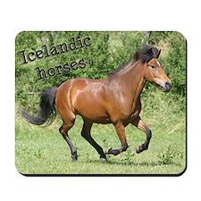 Icelandic horse Mousepad