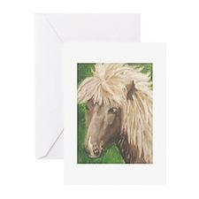 Funny Icelandic pony Greeting Cards (Pk of 10)