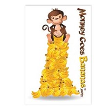 MGB - Monkey Sitting on B Postcards (Package of 8)