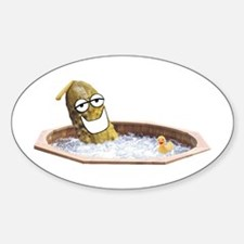 Hot Wet Pickle Oval Decal