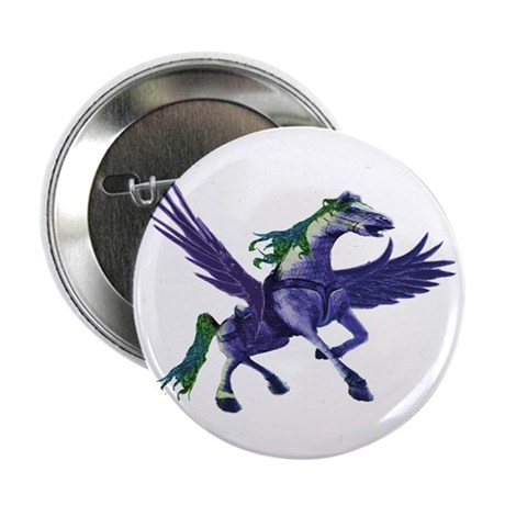 Pegasus Winged Horse Button