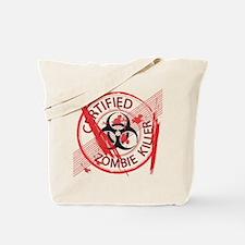 Certified Zombie Killer Tote Bag