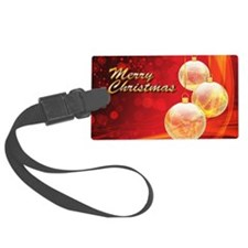 Red Gold Luggage Tag