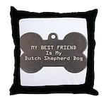 Shepherd Friend Throw Pillow