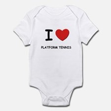 I love platform tennis  Infant Bodysuit