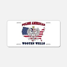 Wooten Wells Texas Polish Aluminum License Plate
