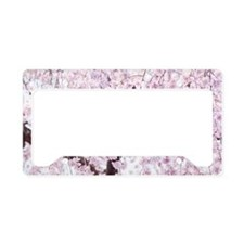 Weeping cherry blossoms License Plate Holder