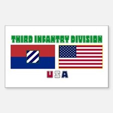 NEW! 3ID USA - Rectangle Decal