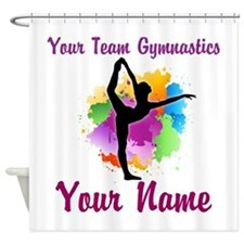 Customizable Gymnastics Team Shower Curtain